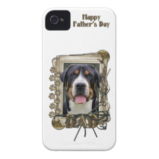 Fathers Day - Stone Paws - Greater Swiss Mountain Case-Mate iPhone 4 Cases