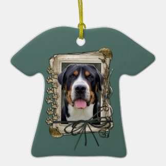 Fathers Day - Stone Paws - Greater Swiss Mountain Ceramic T-Shirt Decoration