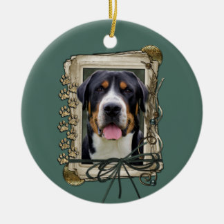 Fathers Day - Stone Paws - Greater Swiss Mountain Christmas Tree Ornament