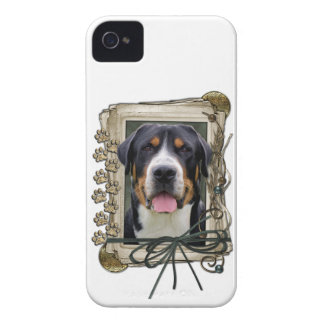 Fathers Day - Stone Paws - Greater Swiss Mountain iPhone 4 Case