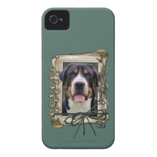 Fathers Day - Stone Paws - Greater Swiss Mountain iPhone 4 Case-Mate Case