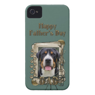 Fathers Day - Stone Paws - Greater Swiss Mountain iPhone 4 Cases