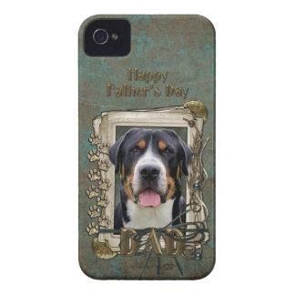 Fathers Day - Stone Paws - Greater Swiss Mountain iPhone 4 Cover