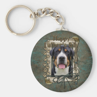 Fathers Day - Stone Paws - Greater Swiss Mountain Key Chain
