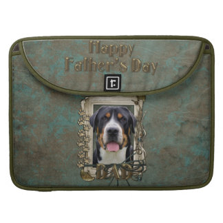 Fathers Day - Stone Paws - Greater Swiss Mountain MacBook Pro Sleeve