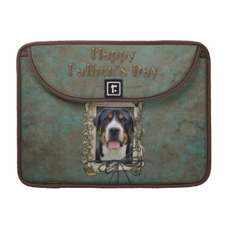 Fathers Day - Stone Paws - Greater Swiss Mountain Sleeve For MacBook Pro