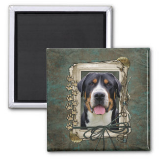 Fathers Day - Stone Paws - Greater Swiss Mountain Magnets