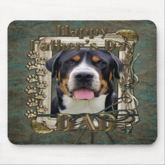 Fathers Day - Stone Paws - Greater Swiss Mountain Mousepad