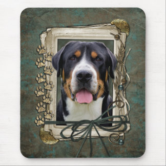 Fathers Day - Stone Paws - Greater Swiss Mountain Mouse Pad