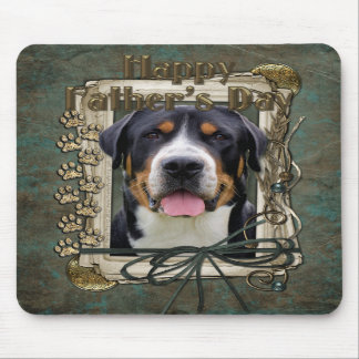 Fathers Day - Stone Paws - Greater Swiss Mountain Mousepads