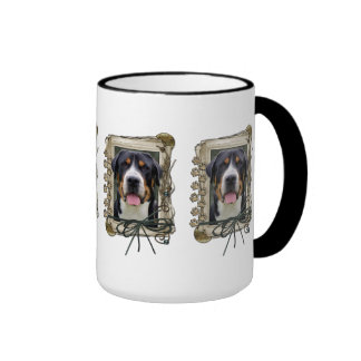 Fathers Day - Stone Paws - Greater Swiss Mountain Ringer Coffee Mug