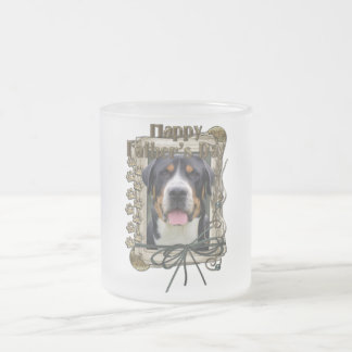 Fathers Day - Stone Paws - Greater Swiss Mountain Frosted Glass Mug