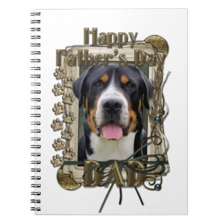 Fathers Day - Stone Paws - Greater Swiss Mountain Spiral Note Books