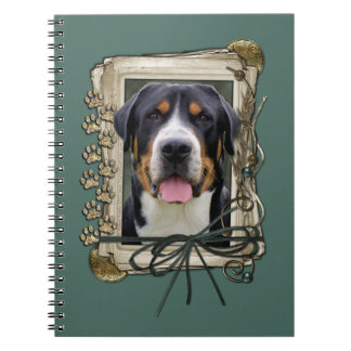 Fathers Day - Stone Paws - Greater Swiss Mountain Spiral Notebook