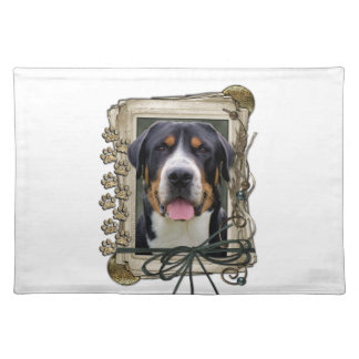 Fathers Day - Stone Paws - Greater Swiss Mountain Place Mats