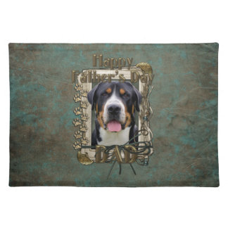 Fathers Day - Stone Paws - Greater Swiss Mountain Place Mat