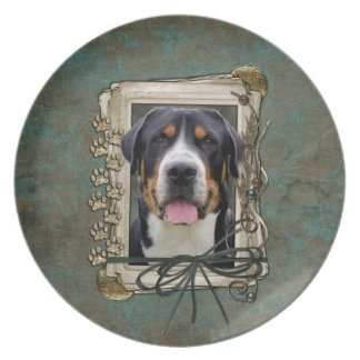 Fathers Day - Stone Paws - Greater Swiss Mountain Party Plate