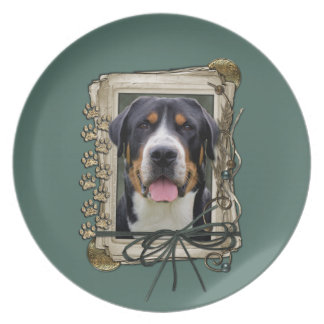 Fathers Day - Stone Paws - Greater Swiss Mountain Party Plates