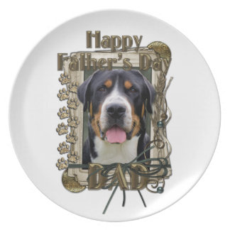 Fathers Day - Stone Paws - Greater Swiss Mountain Dinner Plate