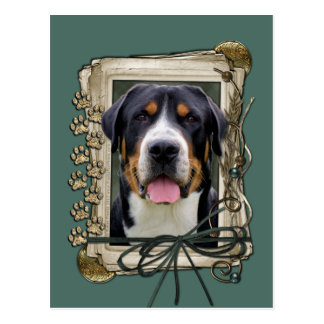 Fathers Day - Stone Paws - Greater Swiss Mountain Postcard