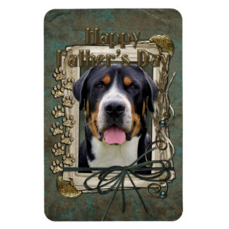 Fathers Day - Stone Paws - Greater Swiss Mountain Rectangle Magnet