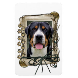 Fathers Day - Stone Paws - Greater Swiss Mountain Magnet