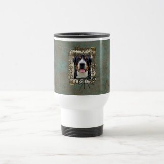 Fathers Day - Stone Paws - Greater Swiss Mountain Stainless Steel Travel Mug