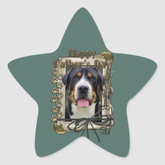 Fathers Day - Stone Paws - Greater Swiss Mountain Star Sticker