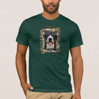 Fathers Day - Stone Paws - Greater Swiss Mountain T-Shirt