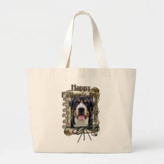 Fathers Day - Stone Paws - Greater Swiss Mountain Canvas Bags