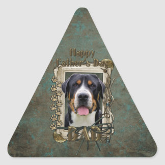Fathers Day - Stone Paws - Greater Swiss Mountain Triangle Sticker