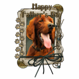Fathers Day - Stone Paws - Irish Setter Standing Photo Sculpture