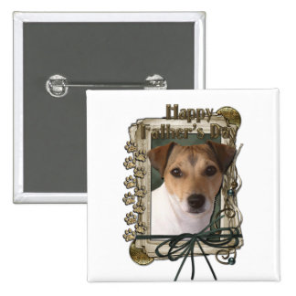 Fathers day - Stone Paws - Jack Russell Pinback Button