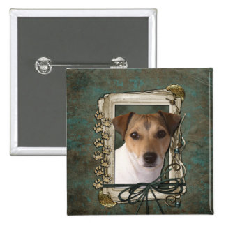 Fathers Day - Stone Paws - Jack Russell Pinback Buttons