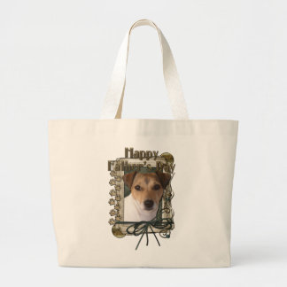 Fathers Day - Stone Paws - Jack Russell Tote Bags
