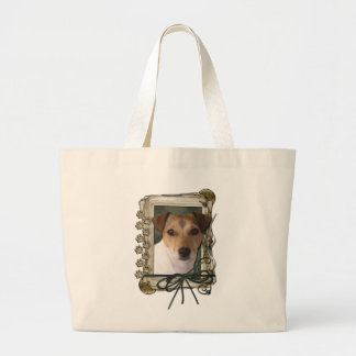Fathers Day - Stone Paws - Jack Russell Canvas Bags