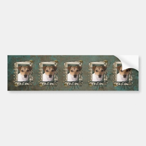 Fathers Day - Stone Paws - Jack Russell Bumper Sticker