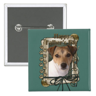 Fathers Day Stone Paws Jack Russell Button