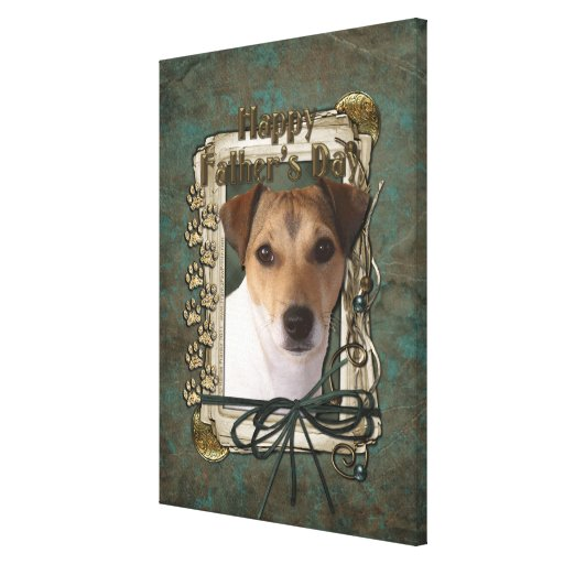 Fathers Day - Stone Paws - Jack Russell Canvas Print