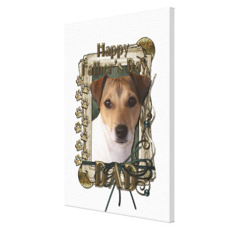 Fathers Day - Stone Paws - Jack Russell Gallery Wrapped Canvas