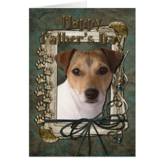 Fathers Day - Stone Paws - Jack Russell Greeting Cards
