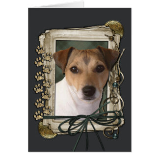 Fathers Day - Stone Paws - Jack Russell Card