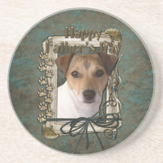 Fathers day - Stone Paws - Jack Russell Beverage Coasters