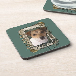 Fathers Day - Stone Paws - Jack Russell Drink Coaster