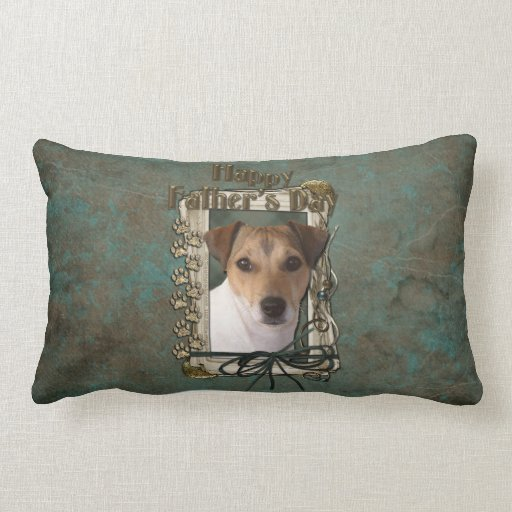Fathers Day - Stone Paws - Jack Russell Throw Pillows