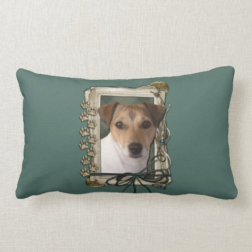 Fathers Day - Stone Paws - Jack Russell Pillow
