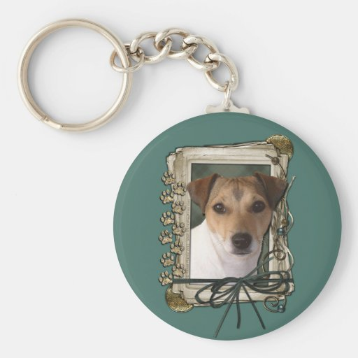 Fathers Day - Stone Paws - Jack Russell Keychain