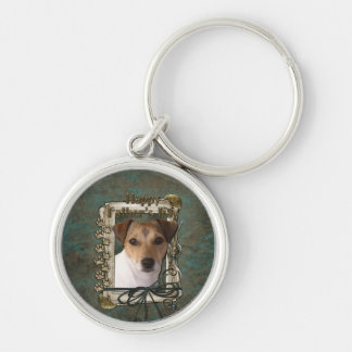Fathers day - Stone Paws - Jack Russell Key Chain