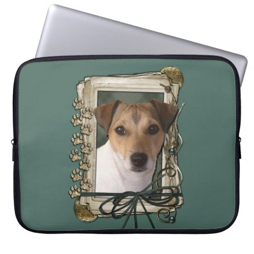 Fathers Day - Stone Paws - Jack Russell Computer Sleeves