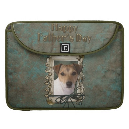 Fathers Day - Stone Paws - Jack Russell Sleeves For MacBook Pro